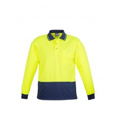 Syzmik Hi Vis Basic Spliced Polo - Long Sleeve