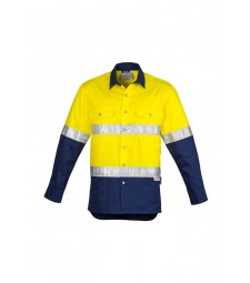 Syzmik Mens Hi Vis Spliced Industrial Shirt - Hoop Taped