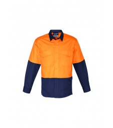 Syzmik Mens Hi Vis Spliced Rugged Shirt
