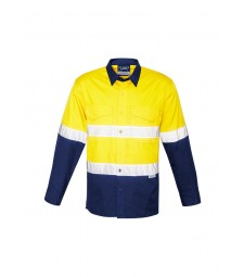Syzmik Mens Hi Vis Spliced Rugged Shirt - Hoop Taped